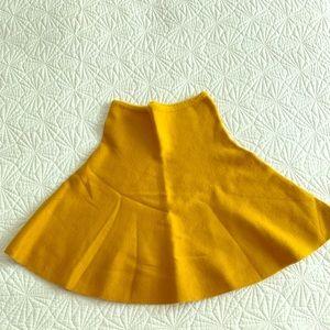Zara Knit Mini Skirt Mustard Color Small